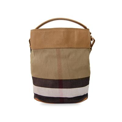 M canvas check leather ashby brown